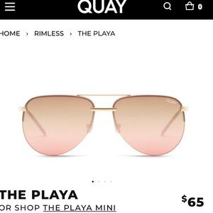 QUAY rose gold playa sunglasses